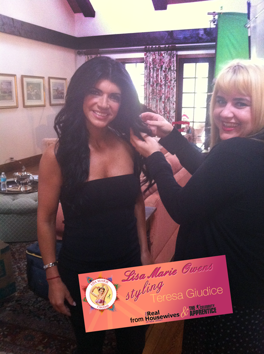 Lisa Marie Owen's styling Teresa Giudice from Real Housewives of NJ